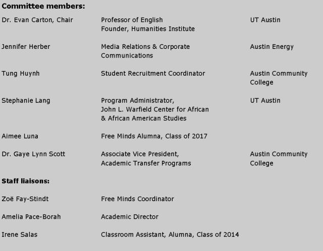 advisory committee chart